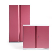 rose red color new design KD metal office or bedroom locker/storage cupboard