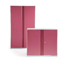 rose red color new design KD metal office or bedroom locker/storage cupboard