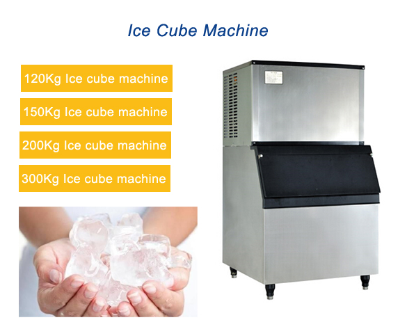 CE Approved Cube Ice Machines, ice maker machine 120kg/day Use For Hotel,Bar,restaurant Commercial