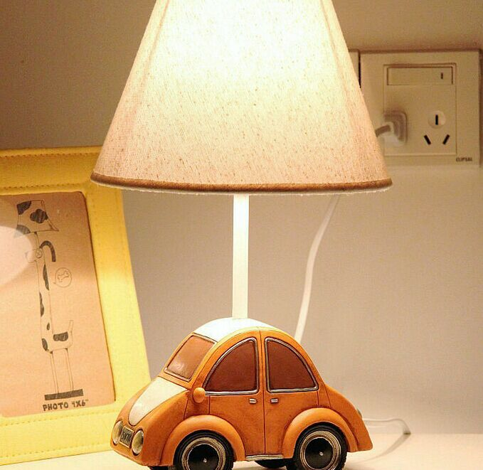 Child car lamp fashion cartoon boys dimmable bedroom lamp gift