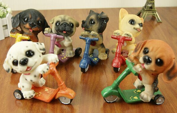 Cute little dog resin ornaments Christmas gift children's toys birthday gift