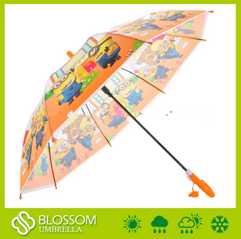 Yellow Minions Cartoon Charactor POE Children Umbrella