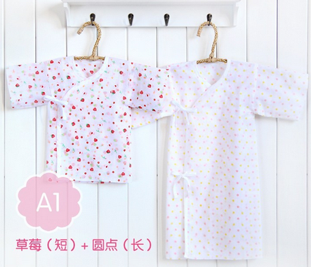 baby printed gauze clothes