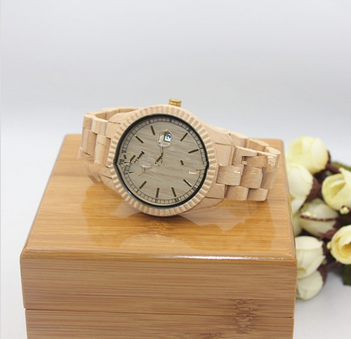 new design bamboo wood watch with custom logo wedding decorations