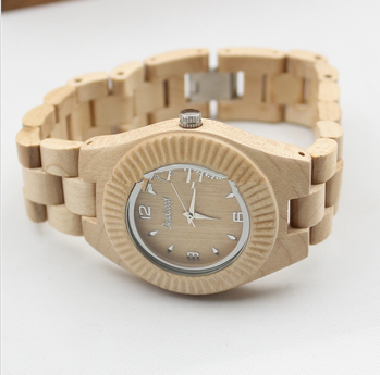 For christmas decorations custom women Wooden Wood Watches With Gift box