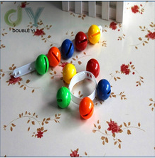 Hot selling colorful plastic musical hand ring bell toy for baby