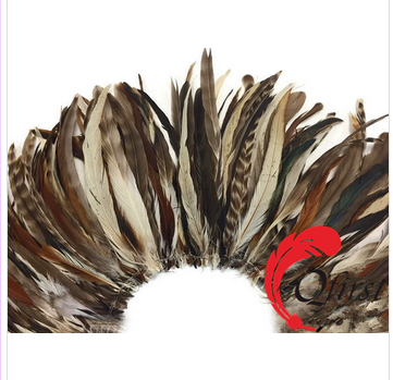 Wholesale bulk plumage natural brown chinchilla mix coque tail strung feathers