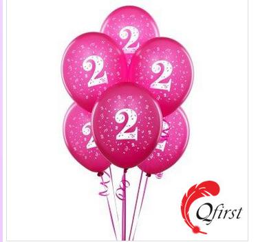 The latest design popular mini hot pink latex balloons
