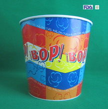85oz customized paper popcorn container from Chinese manufacturer
