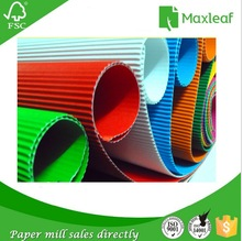 500*700mm mixed colors art craft corrugated paper