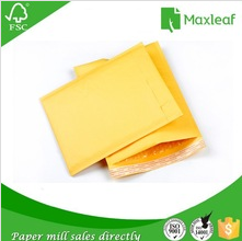 yellow kraft paper padded bubble envelope