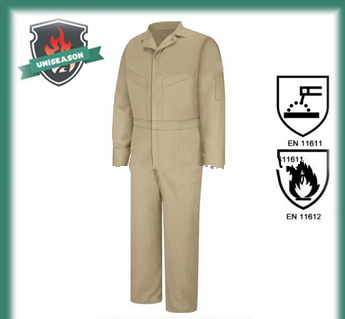 Summer lightweight flame resistant coverall
