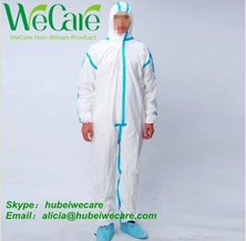 Disposable Non woven Coveralls Ebola protective suit - taped seam coverall