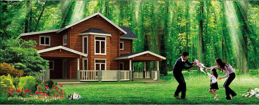 mountain farm house
