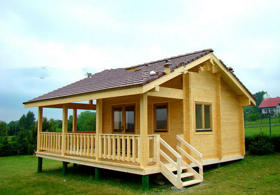 russian pine wooden house