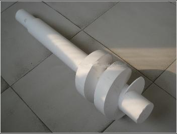 Fused quartz agitator blade
