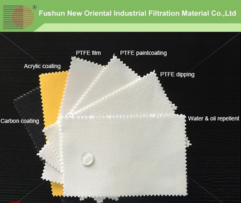 High temperture filter bags for refuse incineration plant with PTFE needled felt