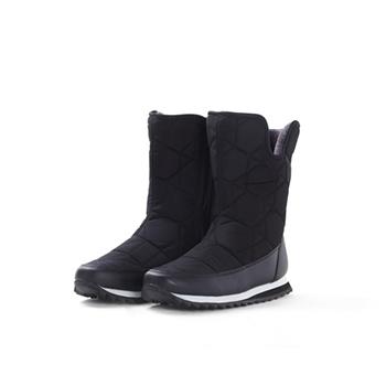 2015 fashion nylon + PU snow boots