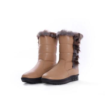 2015 PU+Fake fur snow boots
