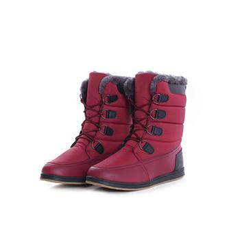 2015 fashion nylon fabric+ PU winter boots