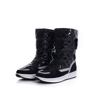 2015 fashion PU material snow boots