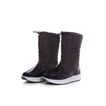 2015 Hot sales ladies nylon taffeta snow boots