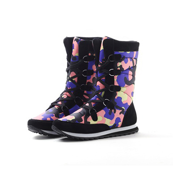 2015 fashion camouflage printed height snow boots