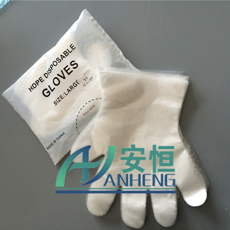 PE plastic disposable gloves