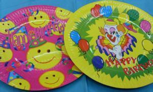 wholesale happy birthday paper plate