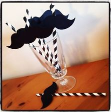 Hot sell moustache paper straws, beard drinking paper straw