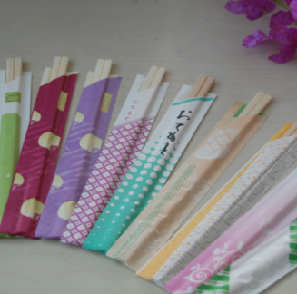 Wooden Chopsticks-paper wrapped chopsticks