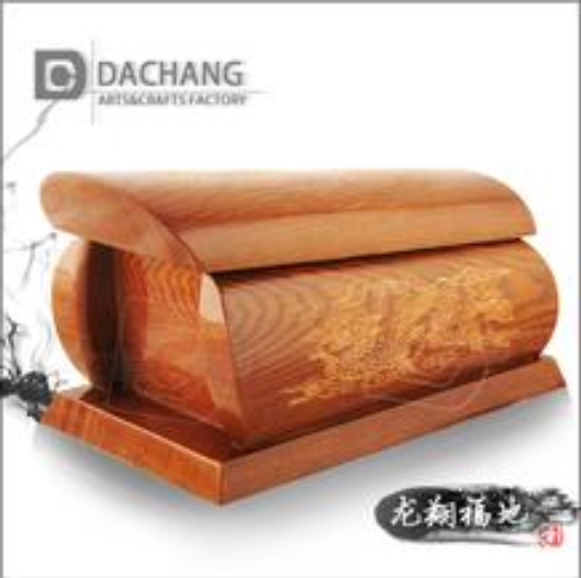funeral wooden coffin