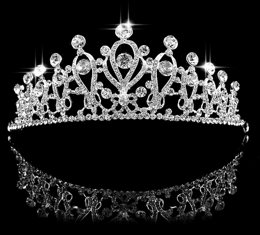 New Design Wedding Tiara Silver Plated Austrian Crystal Shine Big Crown Hairband Luxury Bridal Jewelry