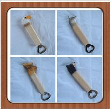 Wooden Basswood Carved Bottle Opener