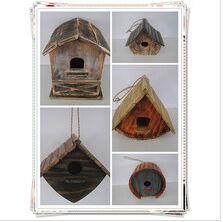 handmade carved wooden bird house light house