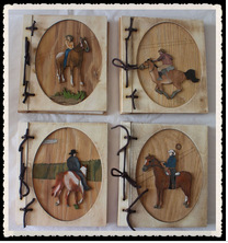 wooden carved photo abum