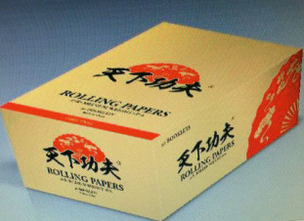 King size rolling paper,with Arabic gum,white rolling paper