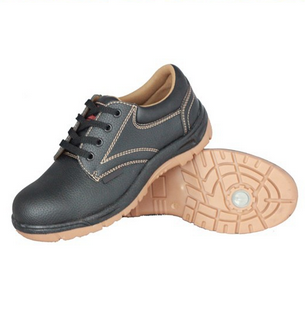 Low cut embossed PVC artificial leather shoes, cheap PVC leather safety shoes