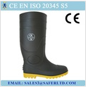 Hot sale safety PVC rain boots with steel toe and steel plate