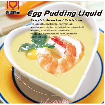 frozen egg pudding liquid