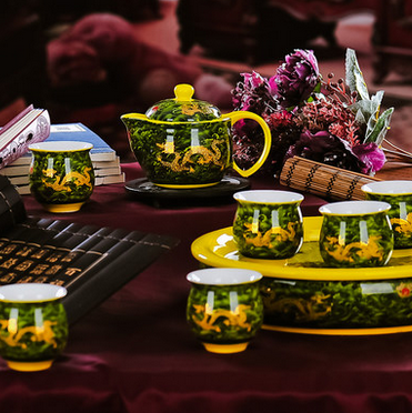 wholesale teapot chinese china dragon promotional gift tea set ceramic tea set