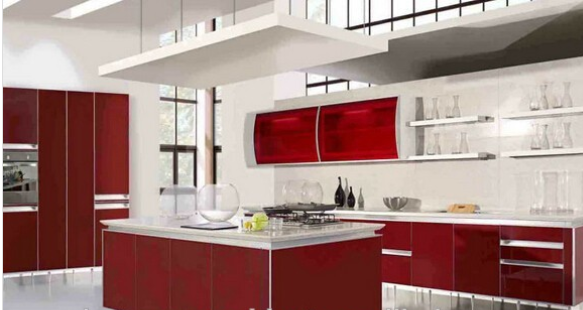 Natural style USA standard kitchen cabinet
