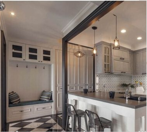 2015 hot sale glossy lacquer kitchen cabinet