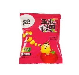 Tomato Snack Food Wholesale Coffee Corn Crispy Non-fried Corn