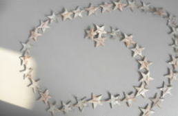 Decorative hanging stars and hearts for home decoration