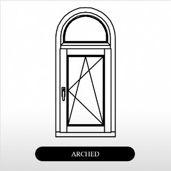wood arch window