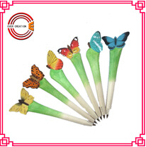 wooden Office stationery Butterfly pen cute and colorfull wooden pen