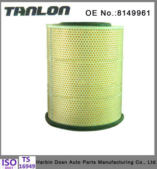 SCANIA truck parts air filter for engine 8149961
