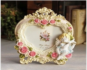modern antique heart-shape wooden craving photo frame wholesale 2015 top sale wooden photo frame