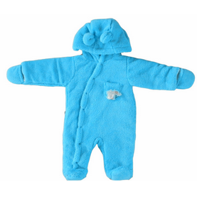Baby boy animal printing winter hooded romper;Winter thermal windproof new baby outfis